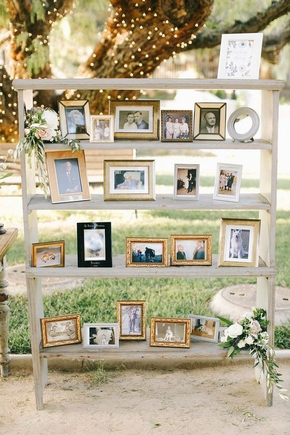 Wedding photo display wedding ideas / http://www.deerpearlflowers.com/wedding-photo-display-ideas/