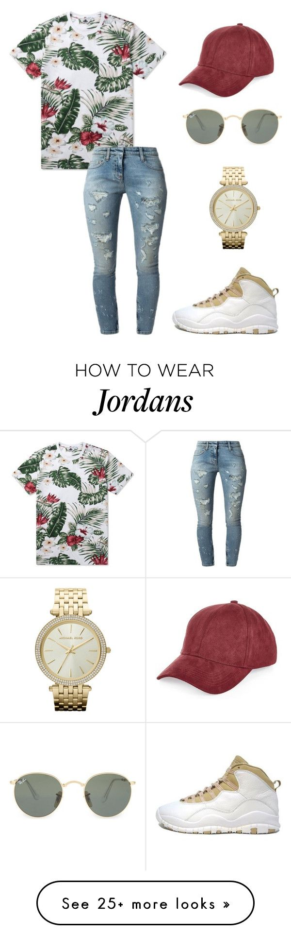 """""""Untitled #2606"""" by princessceairra on Polyvore featuring Penfield, Retrò, River Island, Faith Connexion, Ray-Ban and Michael Kors"""