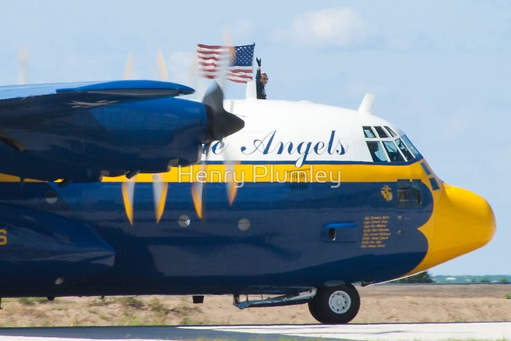 "Blue Angels C-130 Hercules ""Fat Albert"" taxis prior to demo during the 2010 Cleveland National Air Show"