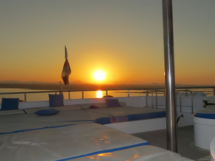 Sunset top sundeck Red Sea