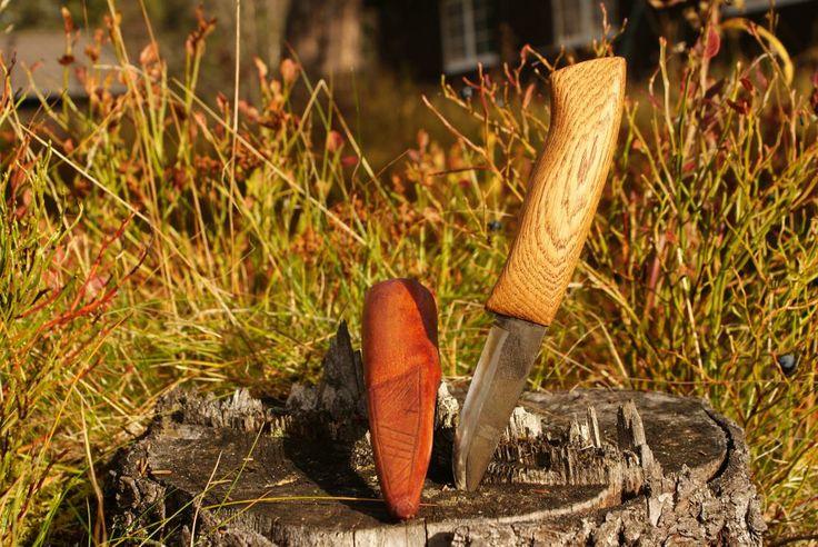 Laminated Scandi knife #Bladesmith