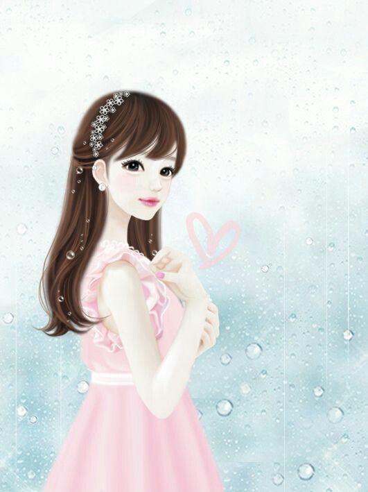 cute korean girl cartoon wallpaper wallpaper images