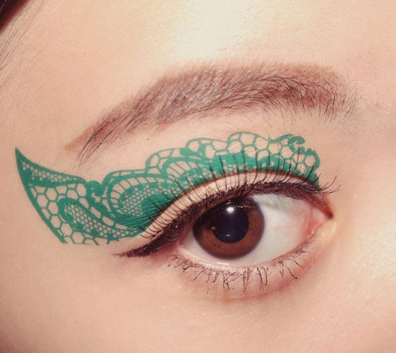 1 Pair of Temporary Tattoo Makeup Transfer Stickers di cclstore