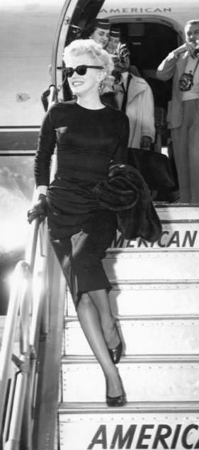 Marilyn Monroe - This is pure style.  You can wear the EXACT same outfit with the same sunglasses, same shoes and the same black leather gloves and look just as stylish today as she did back in the 50s!!!   Style never goes out of fashion!