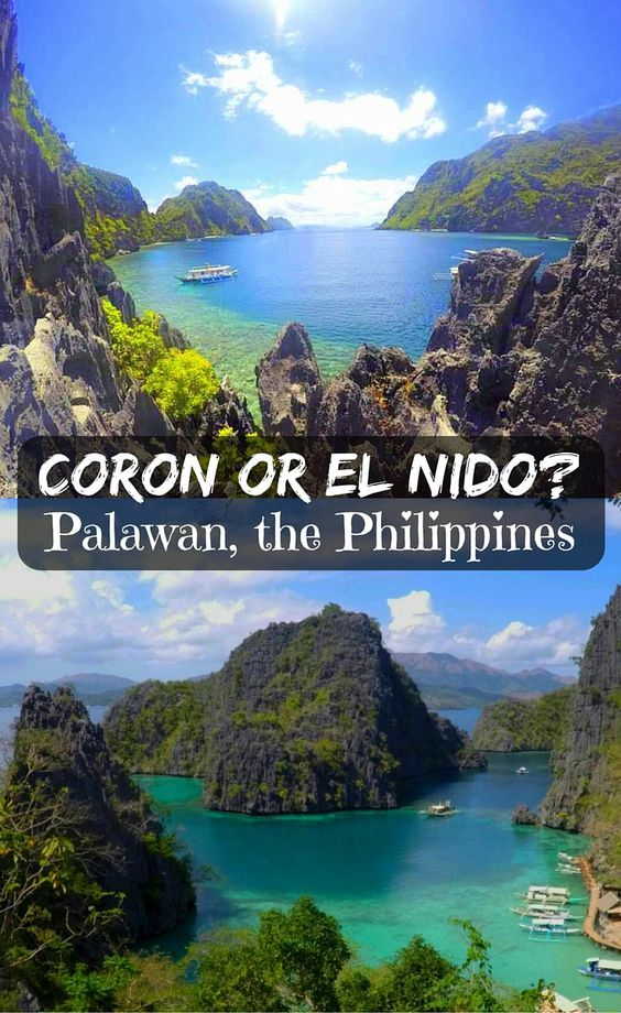 El Nido or Coron? Or both? Palawan in the Philippines. How to reach, places to stay, eating options, costs, beaches, attractions, party and more! #ElNido #Coron #Palawan