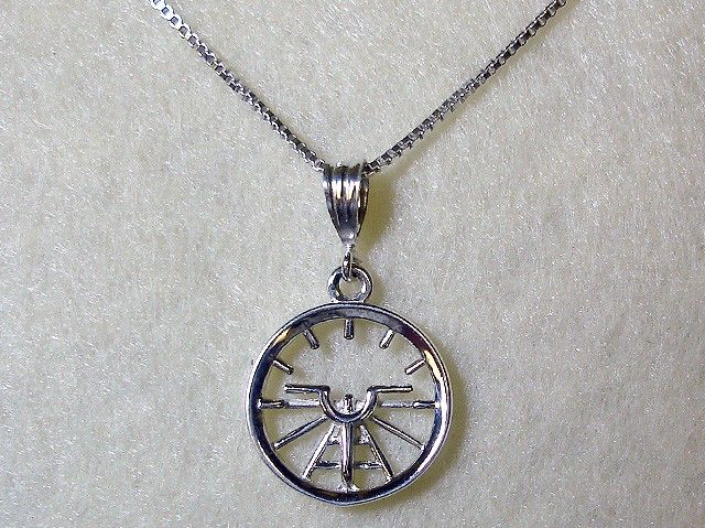 Aviation Attitude Indicator Small Sterling Silver Necklace Jewelry by AviationJewelry on Etsy https://www.etsy.com/listing/66919275/aviation-attitude-indicator-small