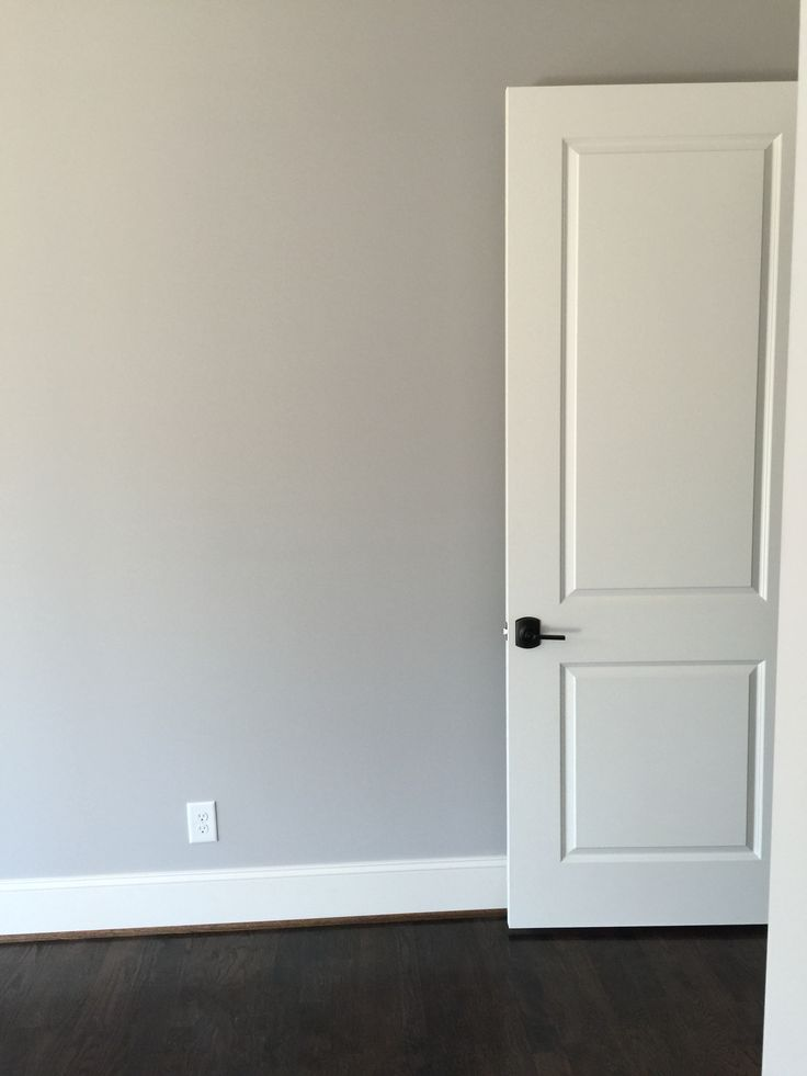 Delightful Sherwin Williams Knitting Needles Wall Color. Alabaster Doors And Trim.  Schlage Hardware.