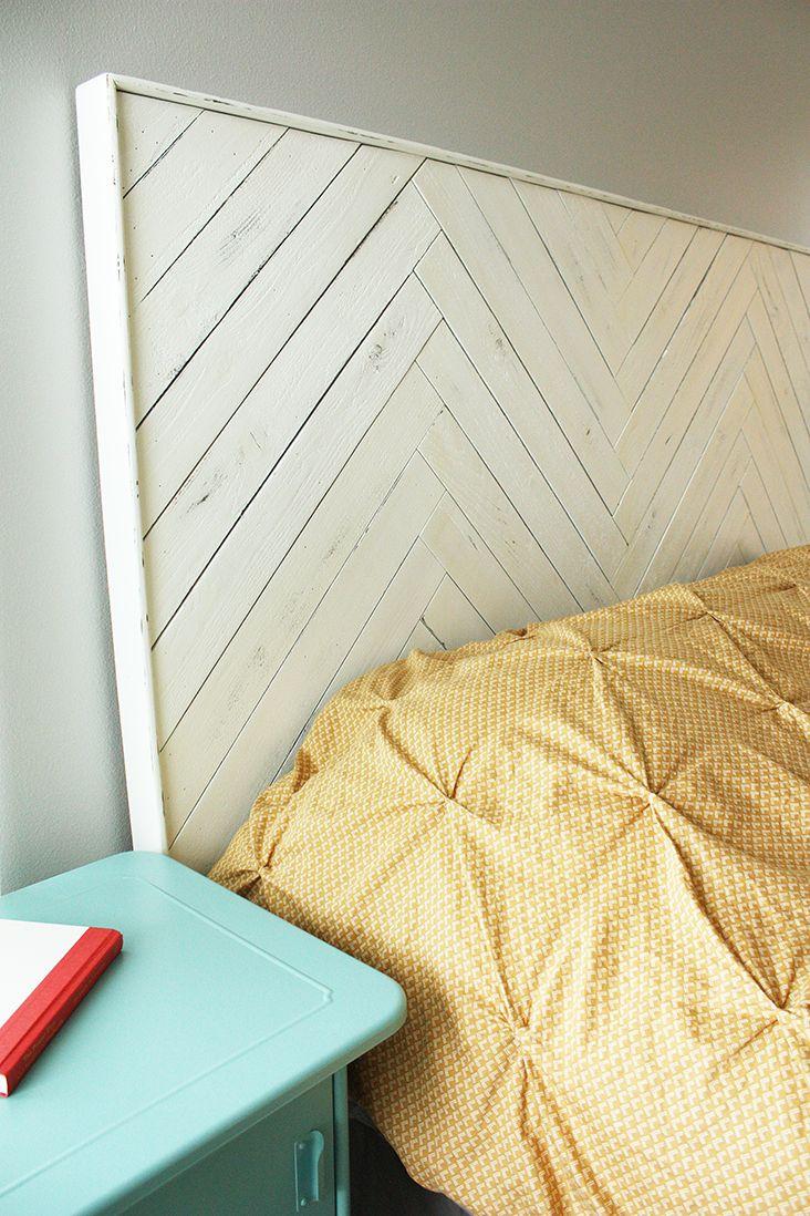 DIY Herringbone Headboard   For the Home   Pinterest   Herringbone ...