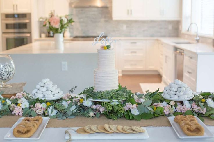 The dessert table at this Love Bridal/Wedding Shower is amazing!! See more party ideas and share yours at CatchMyParty.com