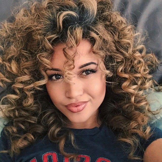    HAIRSPIRATION    Crushing on @highstannards big curly hair➰➰➰ Big hair is so SEXY She looks GORG❤️ #VoiceOfHair