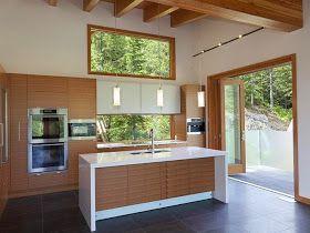 Bajo la ventana: un lugar poco habitual para cocinar - Cocinas con estilo