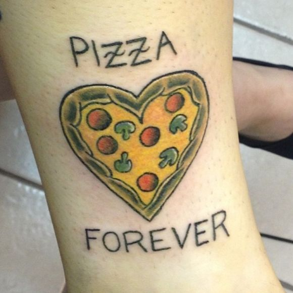 People LOVE Pizza: 40 Cheesy Pizza Tattoos