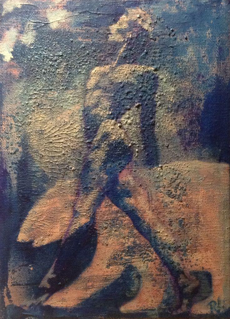 #the ice bear#18x24#canvas#acrylic,alkyd#rithva.dk