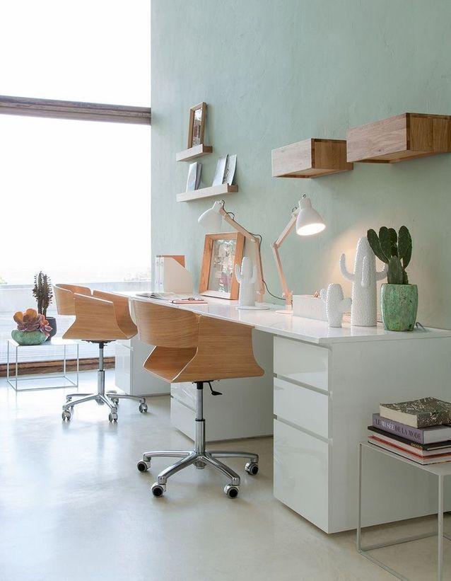 Peinture 15 Idees Pour Personnaliser Son Interieur Bureau Vert Deco Chambre Amis Et Tables En Palettes De Bois