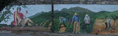 Τοιχογραφία - Τρύγος -     Αλέξανδρος Τσάκωνας