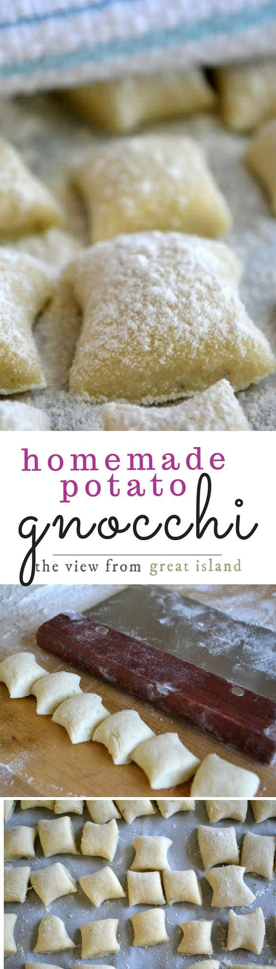 Super Easy Homemade Gnocchi ~ I'm substituting the eggs with flax
