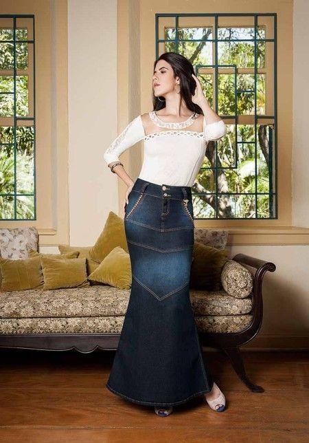 69209a01a74 Saia Sereia - Raje Jeans