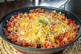 Lazy stuffed peppers in the skillet