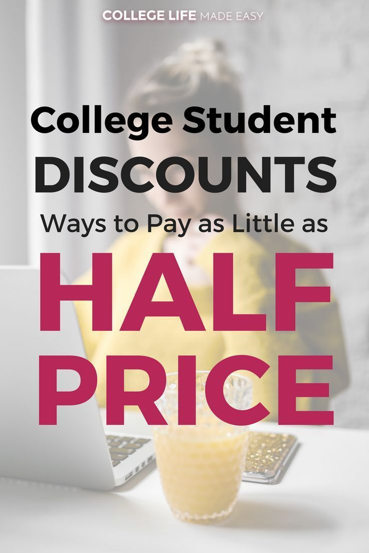 College Student Discounts: Ways to Pay as Little as Half Price! | Awesome Budget Tips to Save Money | #collegelife #college #collegetips #frugal #frugalliving