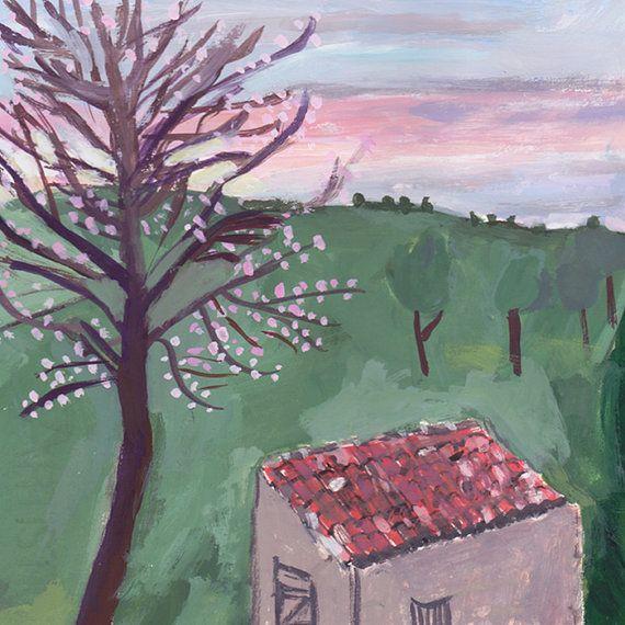 Sunset Provence by JackieClarkMancuso on Etsy