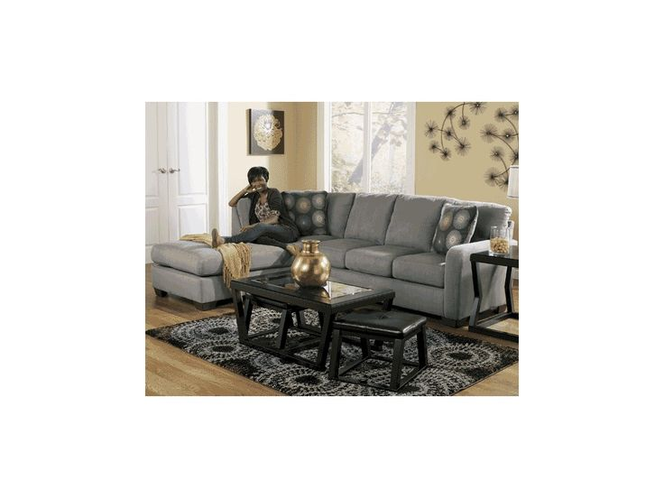Signature Design By Ashley Living Room Zella Charcoal Left Chaise Sectional  582225   Furniture Fair   Cincinnati U0026 Dayton OH And Northern KY