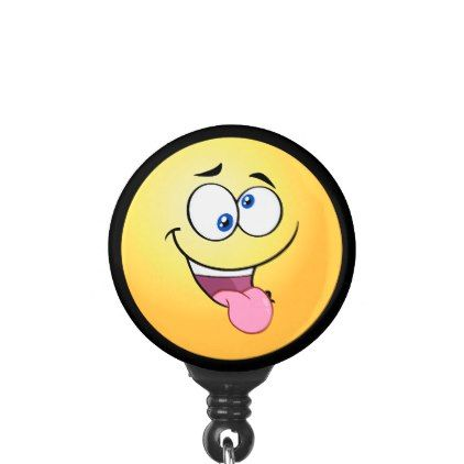 Dizzy Emoji Name Badge Holder - image gifts your image here cyo personalize