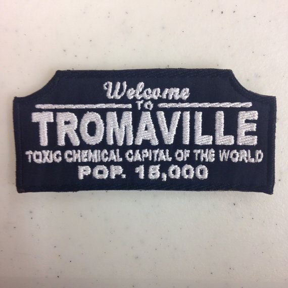 Welcome to Tromaville Embroidered Patch by Oneyedjax on Etsy