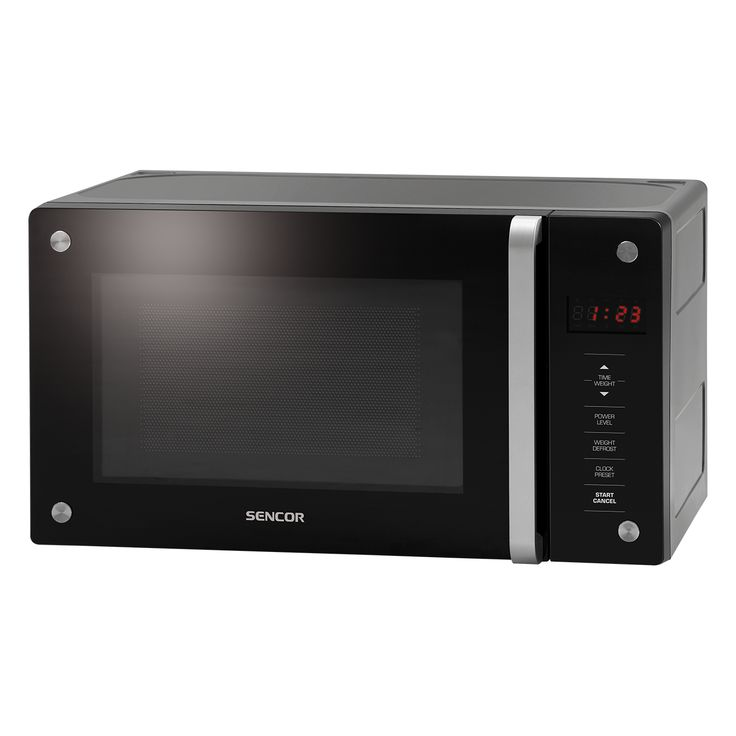 Microwave Oven SMW 3620D - Door and front panel from hardened glass - Automatic defrosting based on weight - Quick start at full power function
