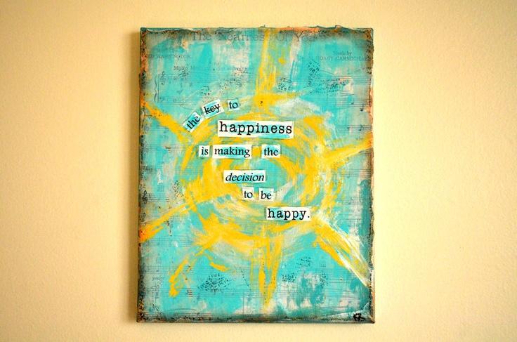 Happy Sunshine Quote Mixed Media Canvas