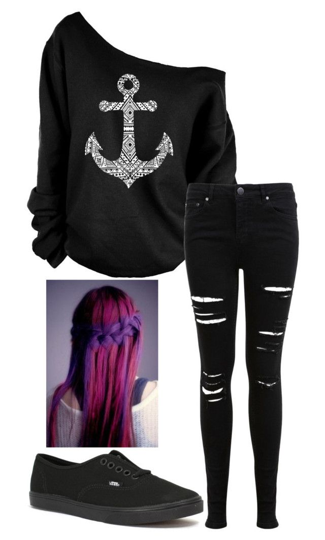 Untitled #50 by weird-fangirl on Polyvore featuring polyvore, fashion, style, Miss Selfridge and Vans