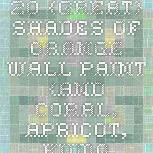Shades Of Orange Paint best 10+ orange wall paints ideas on pinterest | painted wall art