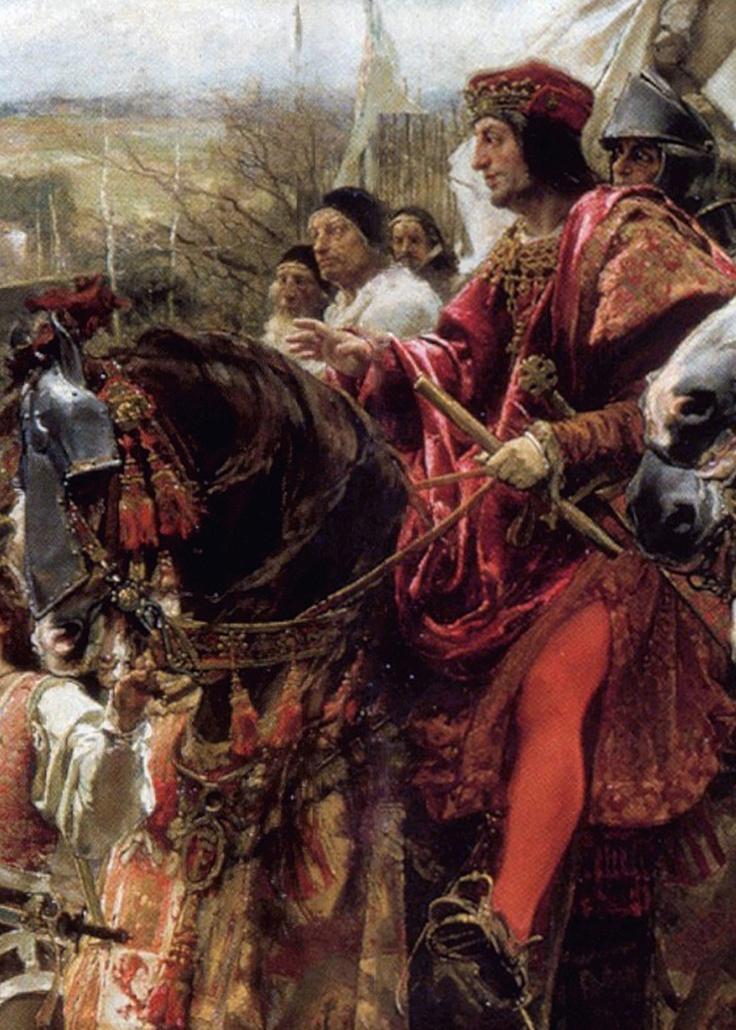 """Detalle del cuadro """"La rendición de Granada"""", pintado por Francisco Pradilla en 1882 (Palacio del Senado, España)"""