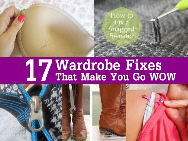 Stains, snags, and unwanted odors are all common wardrobe issues that can be fixed in a jiff if you have the right know-how, but these aren't the only wardrobe problems people encounter every day. Have a bra that has underwire poking out or jeans that are just too tight after washing? How about a broken zipper or a ripped eyelet on a sneaker? You may normally throw broken items like this away (or try to perform gymnastics to get into those jeans), but all these wardrobe problems and more…