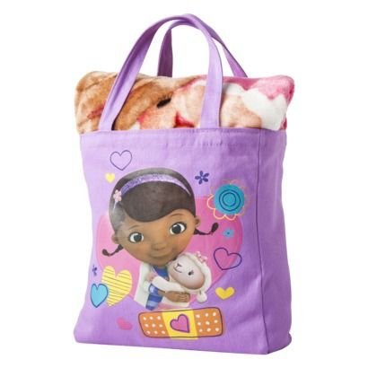 Nickelodeon Doc McStuffins Throw and Canvas Tote Set