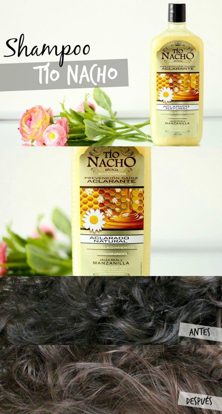 Shampoo Anti-Caída Aclarante Tío Nacho // www.meruborizo.com