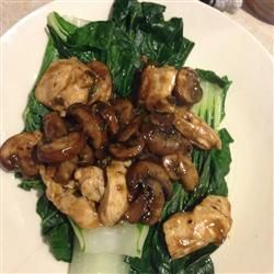 Chinese-Style Baby Bok Choy with Mushroom Sauce: made this tonight ...