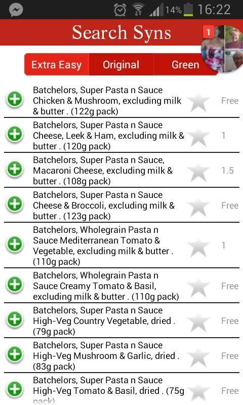 Slimming world Batchelors shopping guide!