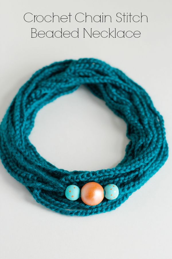 We're having fun crocheting to make a fancy new necklace! This chain stitch beaded necklace is the perfect project to make and wear!