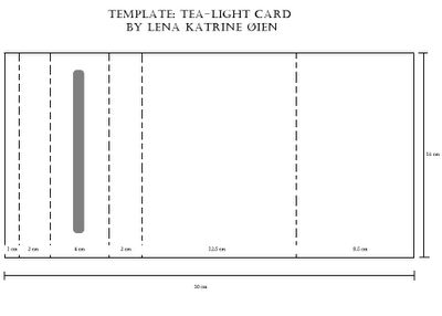 Template Tea-Light Card (1 of 2) (candles tied in with ribbon or string; card can be on left or right)