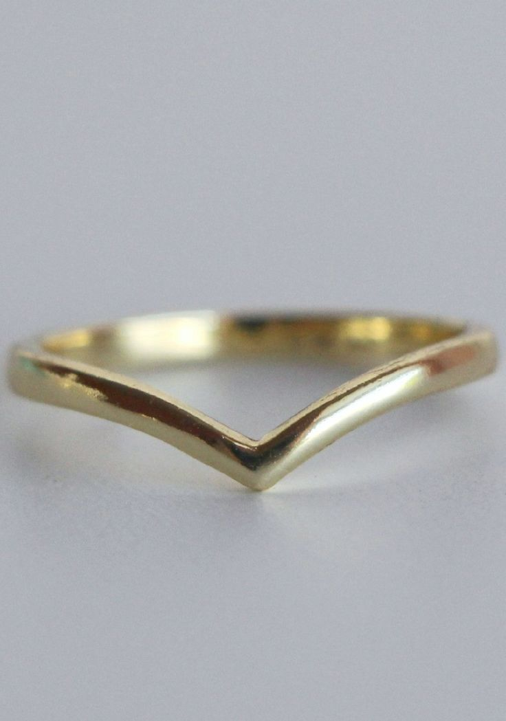 18k Gold Chevron Ring