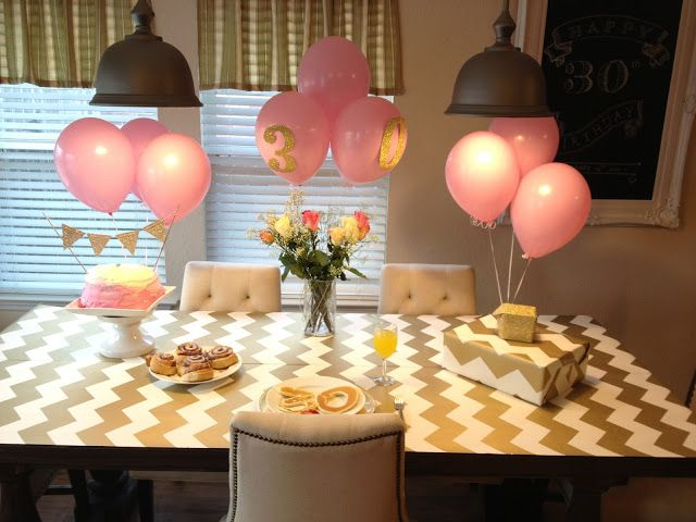 Gold and pink birthday party theme