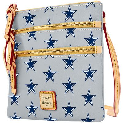 Women's Dallas Cowboys Dooney & Bourke Silver Triple Zip Crossbody Purse