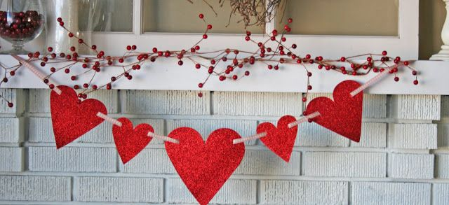 V and Co.: tutorial::easy peasy heart garland