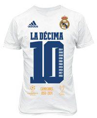 Gama de productos del Real Madrid conmemorativos de la Décima