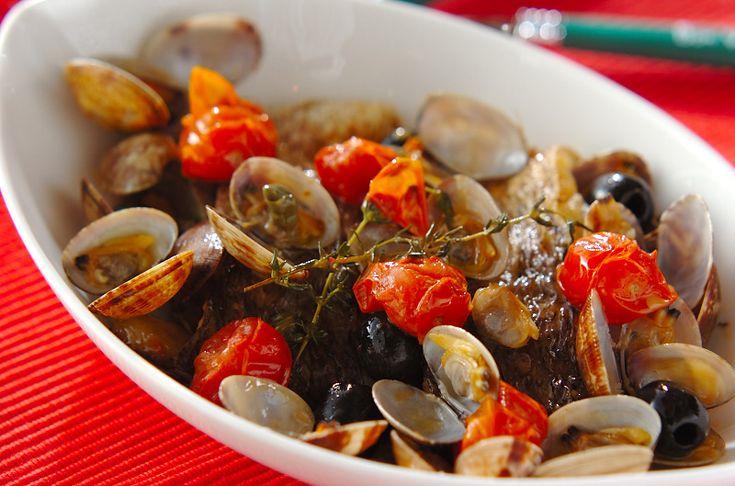 鯛のアクアパッツァのレシピ・作り方 - 簡単プロの料理レシピ | E・レシピ