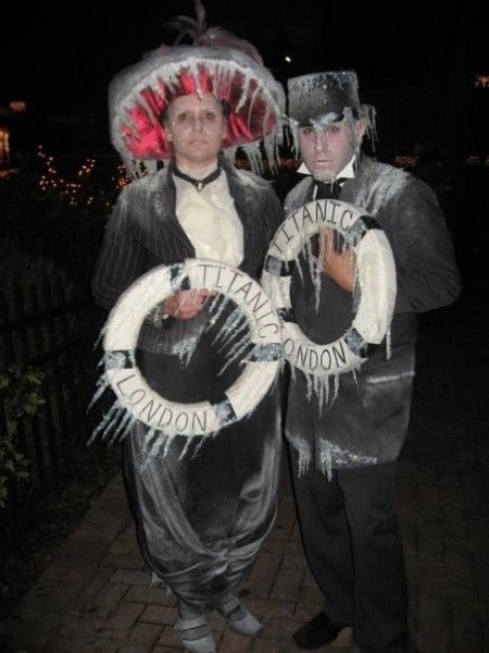 Another Titanic costume.  I really wish I knew how people made the icicles.  I'm having a hard time finding good tutorials.