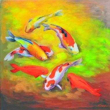 Shusui schilderij van Koi karpers