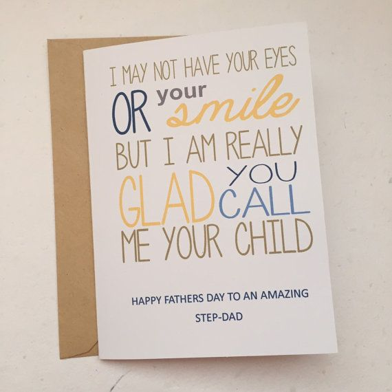 Fathers day sweet stepdad by SWcards on Etsy
