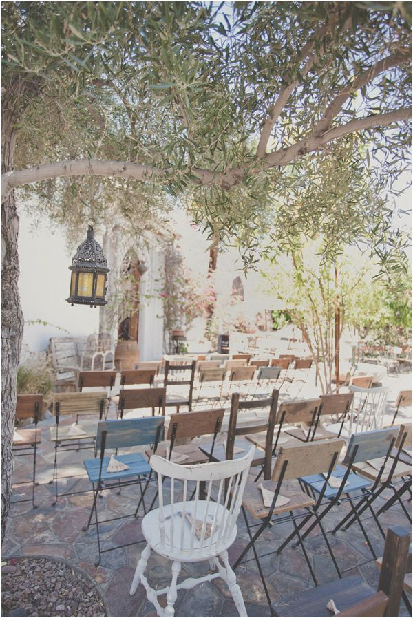 mismatched ceremony chairs // photo by Hazelwood Photography