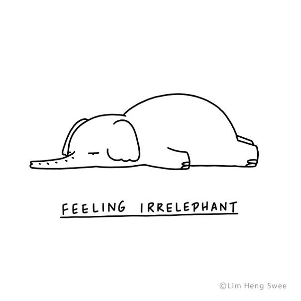Moody Animals  des animaux tristes en dessins minimalistes par Lim Heng Swee  De…